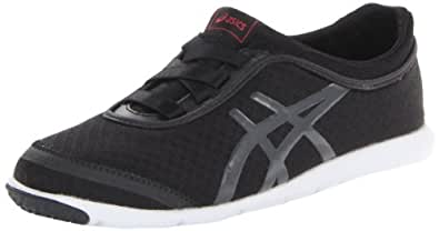 ASICS Women's Metrowalk Walking Shoe,Black/Granite/Raspberry,6 M US