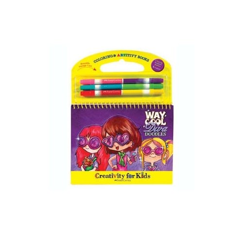 Way Cool Diva Doodles Travel Coloring & ARTivity Book