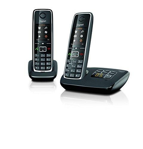 Gigaset C 530 A Duo, Telefono Cordless, Nero