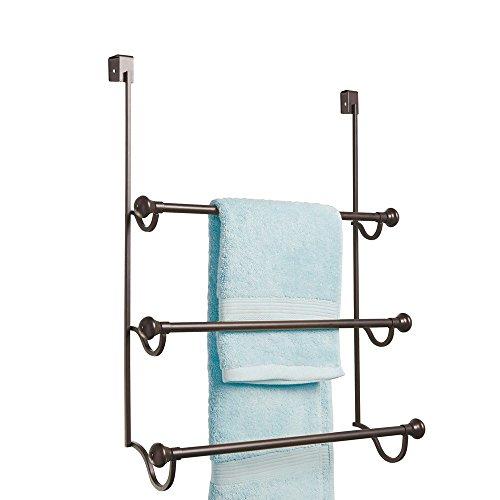 Interdesign York Over The Shower Door Towel Rack For Bathroom Bronze Matte New Ebay