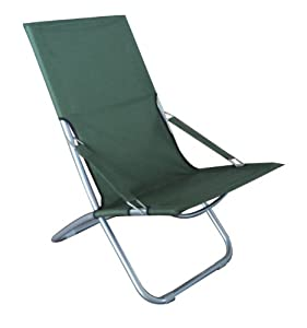 LARGE COMFORTABLE METAL FOLDABLE OUTDOOR INDOOR GARDEN CAMPING FISHING BEACH DECK CHAIR/SUN LOUNGER - BLUE