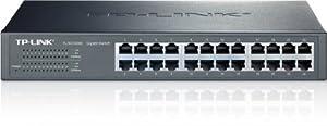 TP-LINK TL-SG1024D  10/100/1000Mbps 24-Port Gigabit 13-inch Rackmountable Switch, 48Gbps Capacity