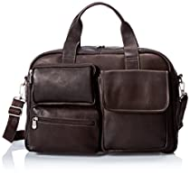 Piel Leather Multi-Pocket Carry-On, Chocolate, One Size