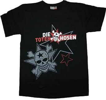 Die Toten Hosen - Double Skull T-Shirt, schwarz, Grösse XXL