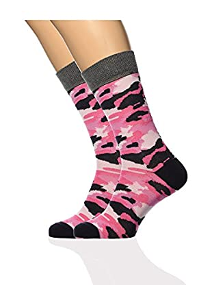 ISOK Calcetines N° 082 (Rosa / Multicolor)