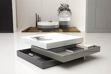 Trio 2 Modern 3-Tone Square Coffee Table