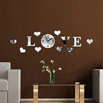 Amazon.com - W8sunjs Modern Stylish Rounds Wall Clock Fashion ...