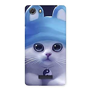 Delighted Tie Chi Cat Multicolor Back Case Cover for Micromax Unite 3