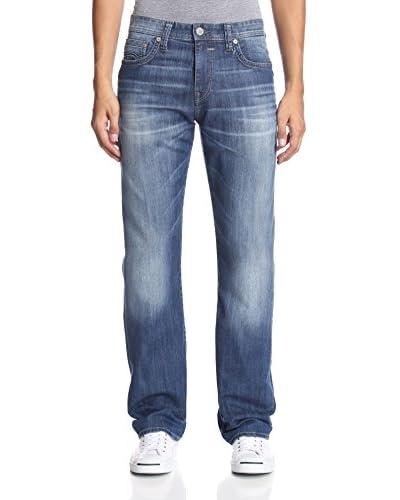 Mavi Men's Matt Mid Rise Relaxed Fit Jeans
