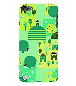 Buffalo in Animation 3D Hard Polycarbonate Designer Back Case Cover for Apple iPod Touch 6