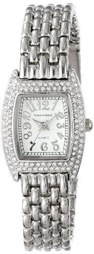 Vernier Women's VNR721 Feminine Silver-Tone Tonneau Quartz Bracelet Watch (Electronic Exchange Program compare prices)
