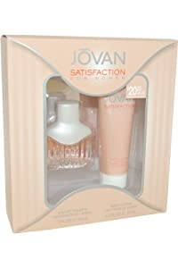 JOVAN SATISFACTION by Jovan SET-EDT SPRAY 1 OZ & BODY LOTION 2.5 OZ