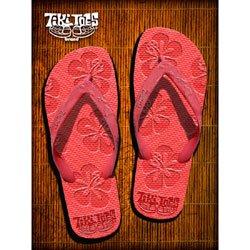 Cheap TikiToes Happy Hibiscus Red Slipper – (Happy Hibiscus)
