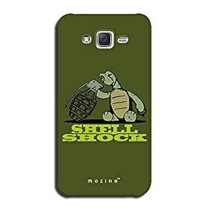 Mozine Shell Shock printed mobile back cover for Samsung galaxy j7