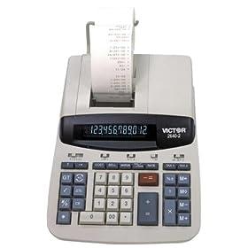12-Digit Desktop Calculator,2-Color Printing,8