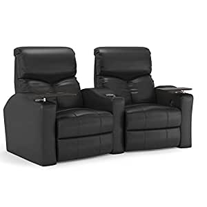 Bolt curved power recline leather 2 row home theater seating with removable swivel Home theater furniture amazon