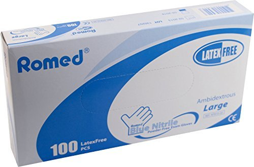 100-disposable-gloves-powder-free-nitrile-by-romed-ref-nt800-20-hypoallergenic-medium-7-8-by-romed