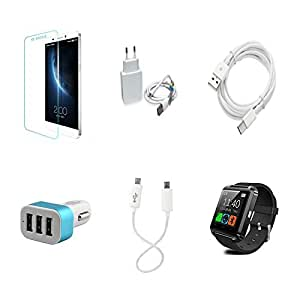High Quality Combo of LeTV 1s Temper Glass + 1 Amp USB Charger + Type C Data ...
