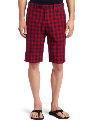 Ben Sherman Mens MC6312 Tailored Gingham Check Shorts Classic Navy W34