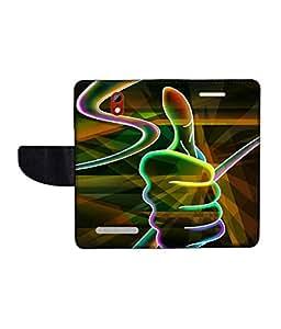 KolorEdge Printed Flip Cover For HTC Desire 500 Multicolor - (45KeMLogo09882HTC500)
