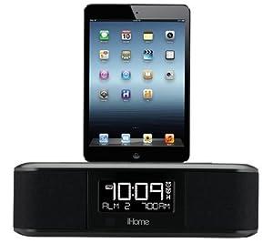 iHome iDL95 Lightning Dock Clock Radio and USB Charge/Play for iPad/iPod, iPhone 5/5S, 6/6Plus, iPad Air, and iPad Mini