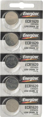 Replacement Batteries Energizer CR1620 for Cayeye, Sigma, Knog, Planet Bike & Mnay Others. Card of 5.