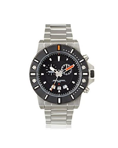 Jorg Gray Men's JG9500-11 Silver Tone/Black Stainless Steel Watch