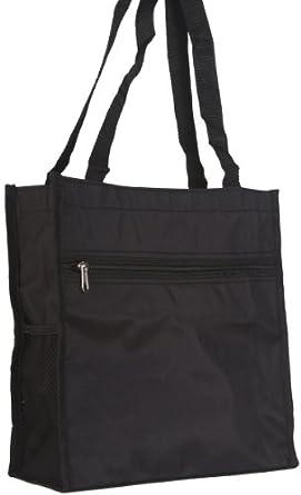 World Traveler Black Travel Tote Bag 12-inch