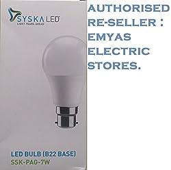 Syska B22 7-Watt LED Bulb (Cool Day Light)
