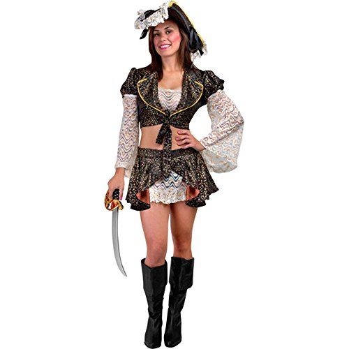 Sexy Caribbean Pirate Adult Costume (Size: Small 4-8)