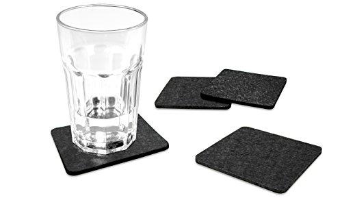 FILU-Filzuntersetzer-quadratisch-8er-Pack-Farbe-whlbar-Untersetzer-aus-Filz-fr-Tisch-und-Bar-als-Glasuntersetzer-Getrnkeuntersetzer-fr-Glas-und-Glser-rechteckig-viereckig-dunkelgrau