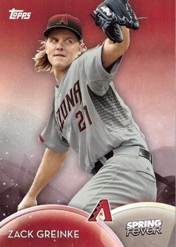 2016 Topps Spring Fever #SF-6 Zack Greinke Baseball Card - His 1st card in an Arizona Diamondbacks uniform!