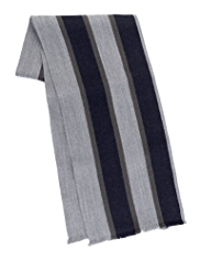 Blue Harbour Pure Lambswool Striped Scarf
