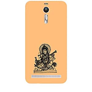 Skin4gadgets Maa Saraswati- Line Sketch on English Pastel Color-Sandy Brown Phone Skin for ZENFONE 2