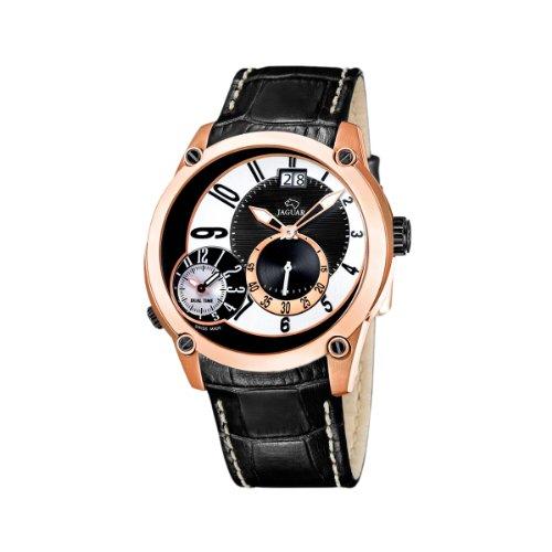 Jaguar 631/2 - Reloj de caballero de cuarzo, correa de piel color negro