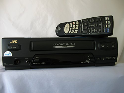 Jvc Hr-Vp450U 4-Head Mono Vhs Vcr Videocassette Recorder