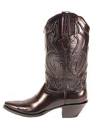 Lucchese Womens Black Cherry Kangaroo Boots
