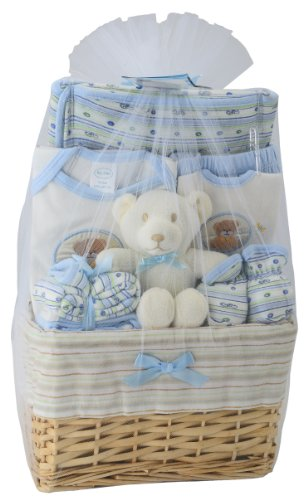 Big Oshi Baby Essentials 10 Piece Layette Basket Gift Set - Blue