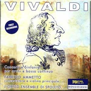 Vivaldi - Concerti a Sinfonie per archi e basso continuo - L'Orfeo Ensemble & Fabrizio Ammetto