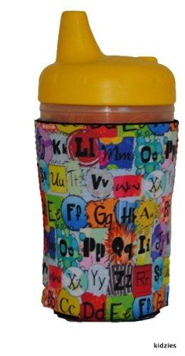 Kidzies Huggerz, Child'S Drink Sippy Cup Bottle Insulator, Abc Design front-357844