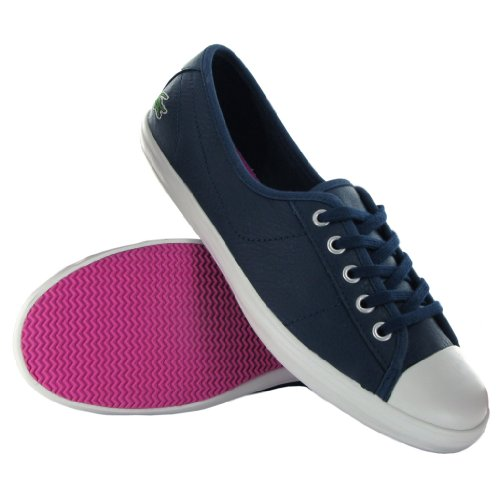 Lacoste Ziane Blue Leather Womens Trainers