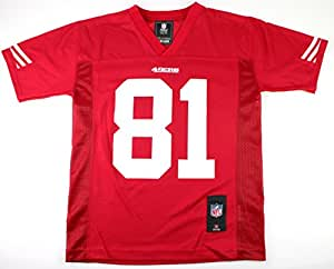 Anquan Boldin San Francisco 49ers #81 NFL Youth Team Color Jersey Red (Youth Medium 10/12)
