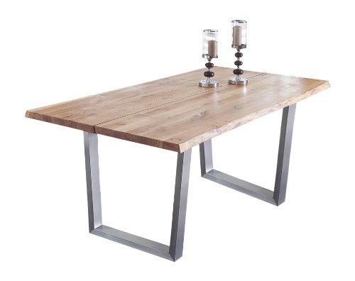 Presto-mobilia-11000-Esstisch-Massivholztisch-Tisch-Castillo-66-200-x-100-x-77-cm-massiv-Eiche-gelt