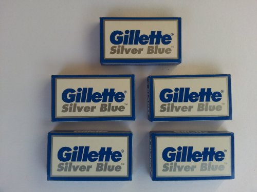 25 Silver Blue Double Edge Razor Blades Made in Russia by 7 O'clock (De Razor Blades compare prices)