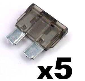 5x Fusibles Standard Enfichables Auto / Voiture / Caravane / Bateau - KFZ - 2 A Amp Gris - Pour 12V / 24V - LIVRAISON GRATUITE!