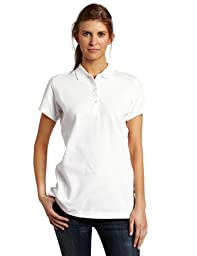 Dickies Women\'s Pique Polo Shirt, White, Small