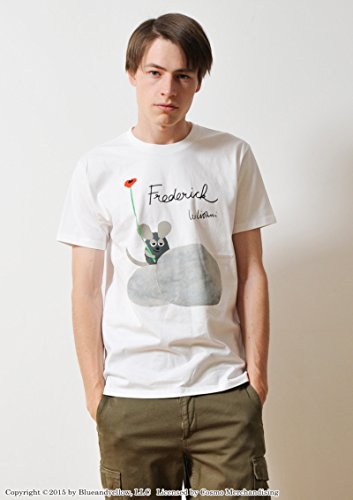 ( グラニフ ) graniph コラボレーション Tシャツ / フレデリック ブックカバー ( ホワイト ) M