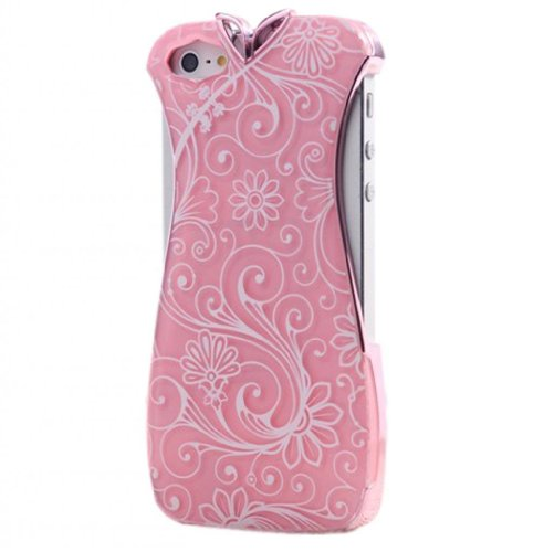 Fjx New Fashion Chinese Style Cheongsam Mini Dress Noctilucent Case Cover For Iphone 5/5G/5Th (Pink)