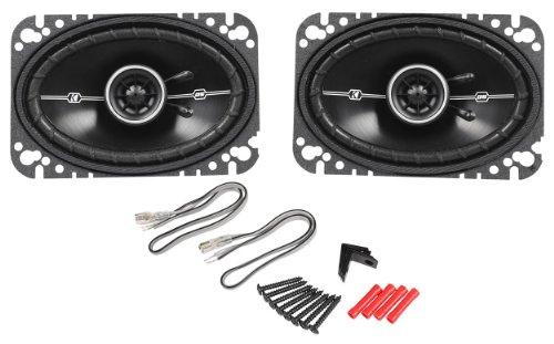 """Pair Kicker Dsc46 4X6"""" D-Series 3-Way Coaxial Car Speakers (11Dsc46)"""