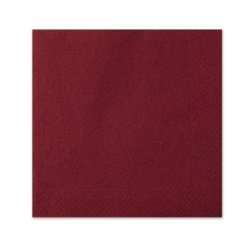 Burgundy Luncheon Napkins (3-Ply) (20/Pkg)